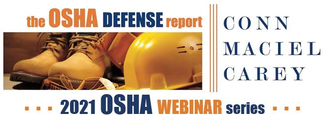 2021 OSHA Webinar Series